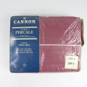 Vintage Cannon Monticello Twin Sheet Set Percale